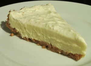 Kim's lighter version of Key Lime Pie