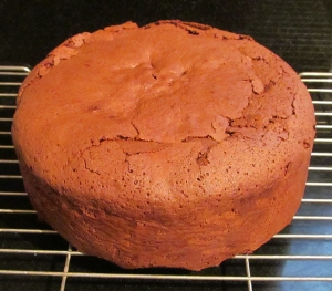 Kim's chocolate cake fresh out the oven