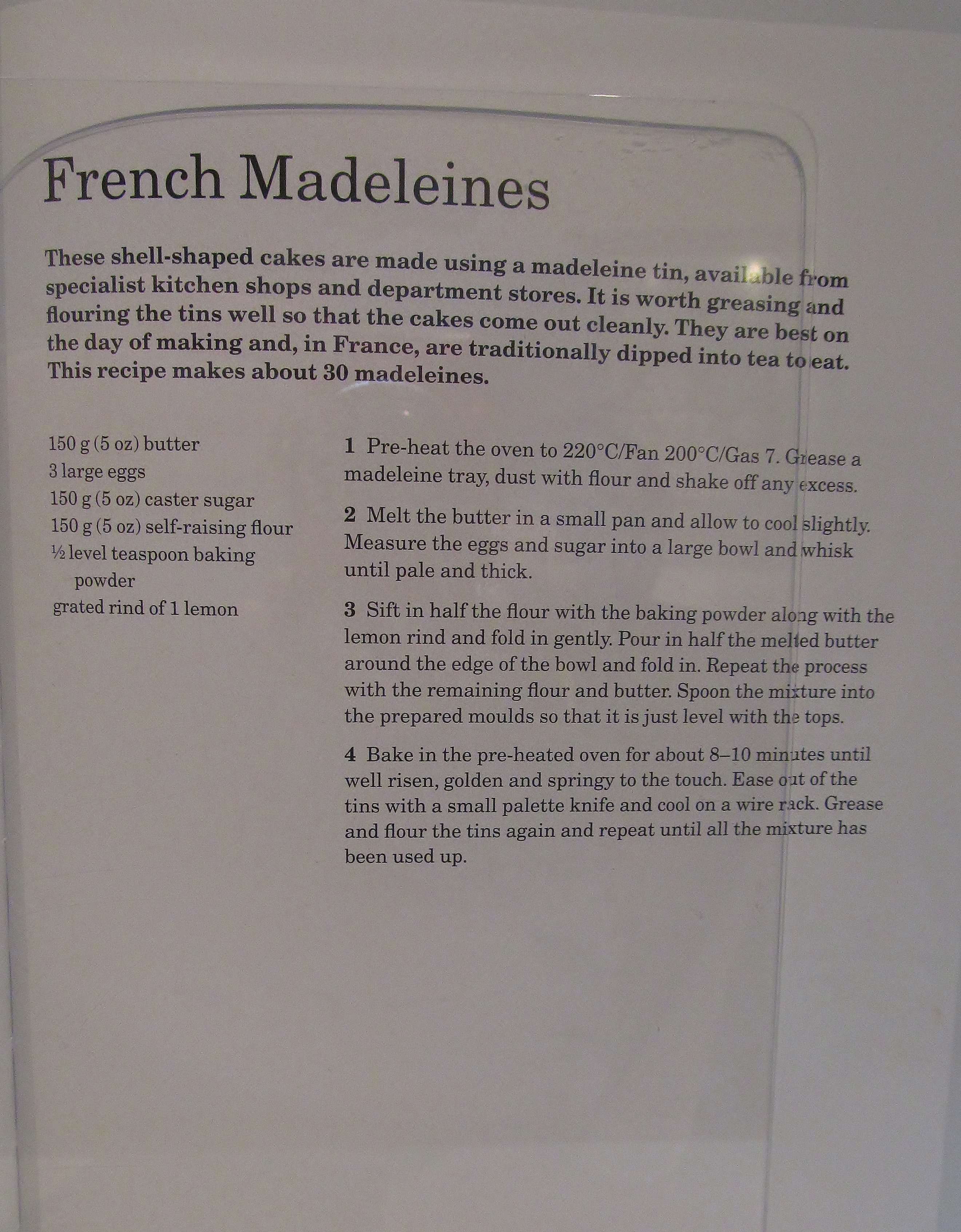 Madeleine Cake French Recipe Mary Berry