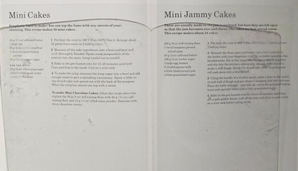 Mini Cakes & Mini Jammy Cakes