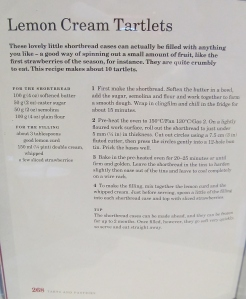Mary Berry's Lemon Cream Tartlet