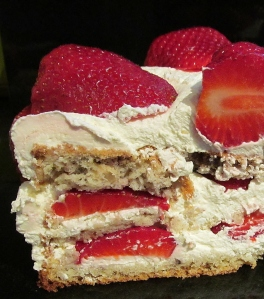 Kim's slice of Swiss Wild Strawberry & Walnut Cake