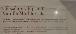 Mary Berry's Choclate Chip & Vanilla Marble Cake