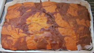 Kim's chocolate chip & vanilla marble cake