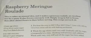 Mary Berry's Raspberry Meringue Roulade
