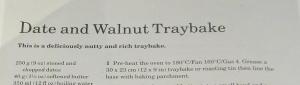 Mary Berry's Date & Walnut Tray Bake