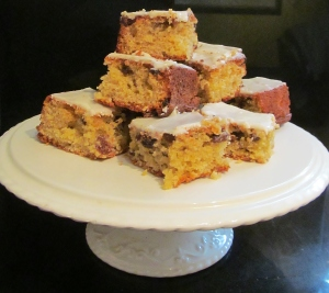 Kim's sultana & orange tray bake
