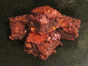 Kim's dark indulgent chocolate brownies