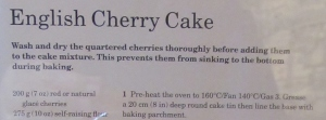 Mary Berry's English Cherry Cake