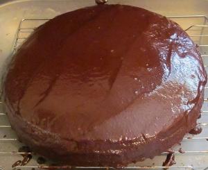 Kim's chocolate rum cake