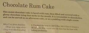 Mary Berry's Chocolate Rum Cake