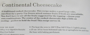 Mary Berry's continental cheesecake