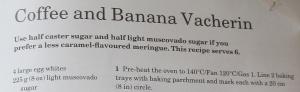 Mary Berry's Coffee & Banana Vacherin