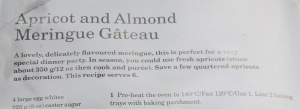 Mary Berry's Apricot & Almond Meringue Gateau